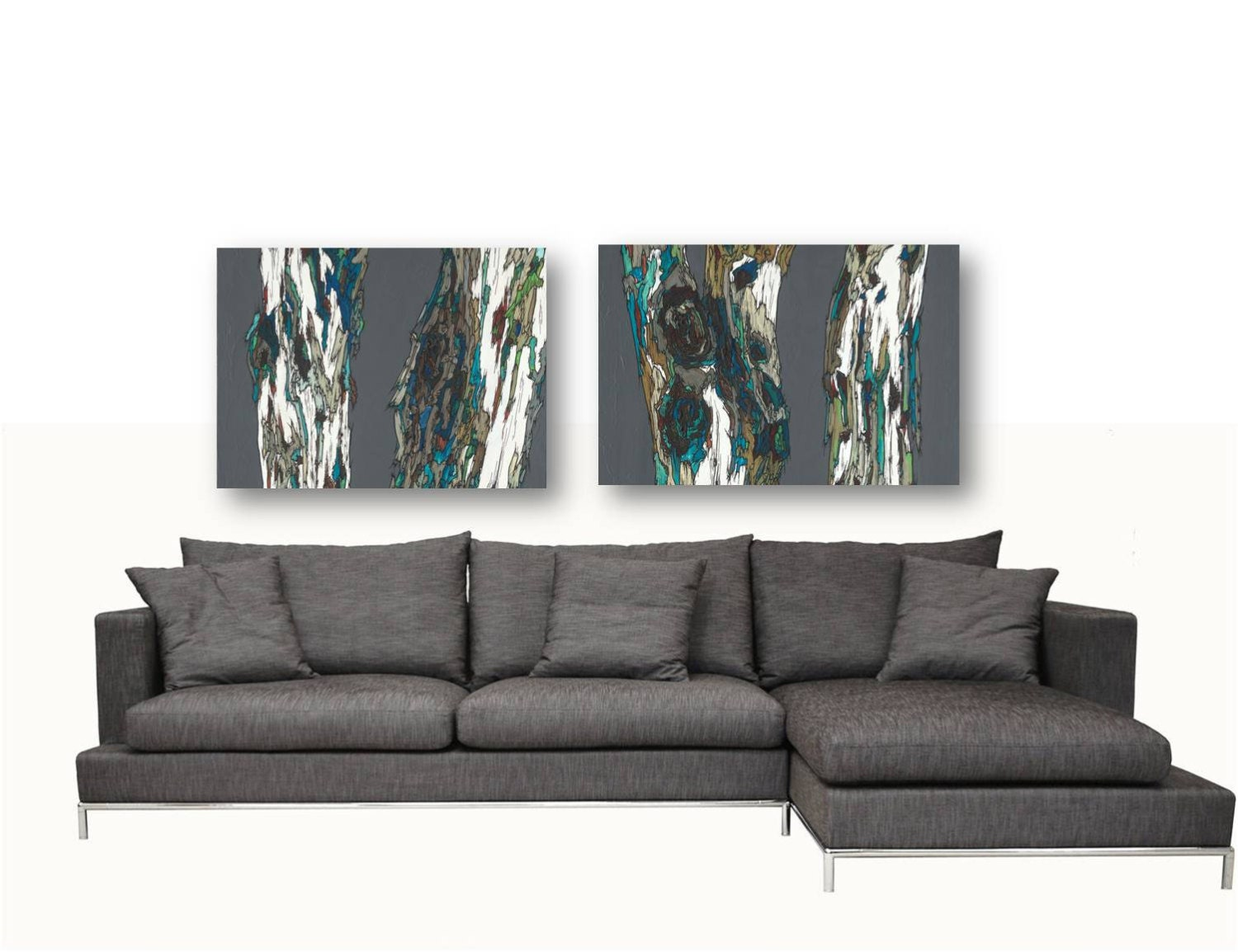 oversized artwork diptych extra large wall art set dining room. Black Bedroom Furniture Sets. Home Design Ideas