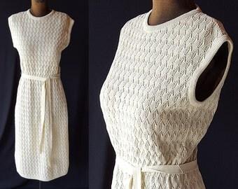 60s Dress, Kimberly Knit, Pointelle, Sweater Girl, Wiggle Dress