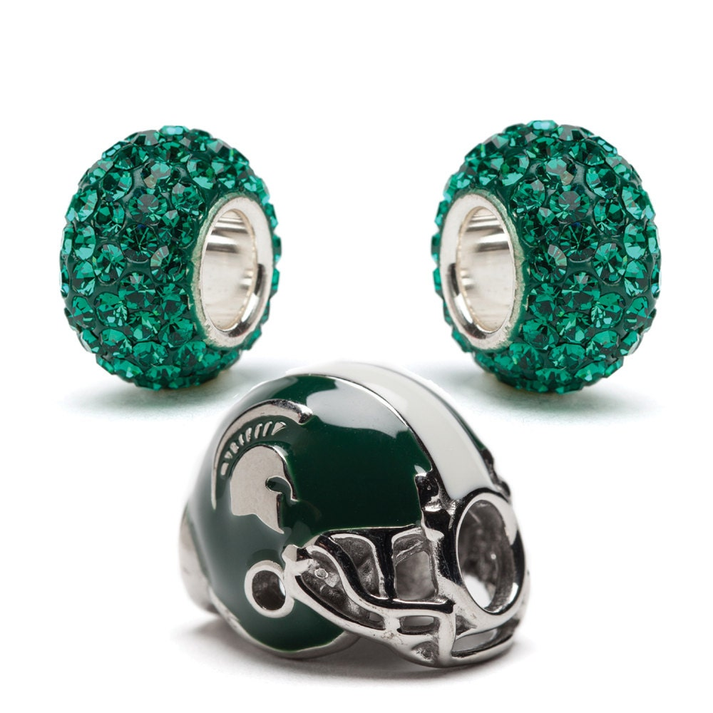 michigan state graduation gift bead charm set