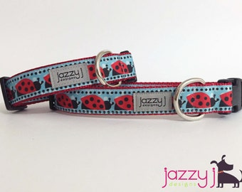 Ladybug Love Dog Collar
