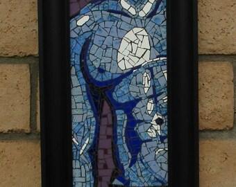 Male torso ceramic tile mosaic