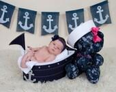 Custom US Navy Cuddle Bear for Sheridan