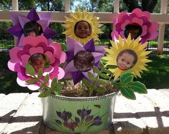 3D Flowers for picture Pot Arrangement- Mothers gift