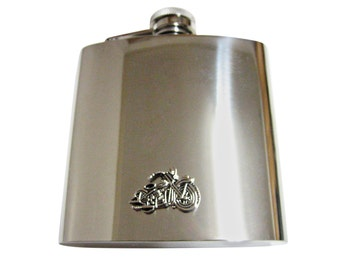 Detailed Motorcycle 6 oz. Stainless Steel Flask