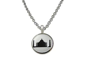 Circular Taj Mahal Pendant Necklace