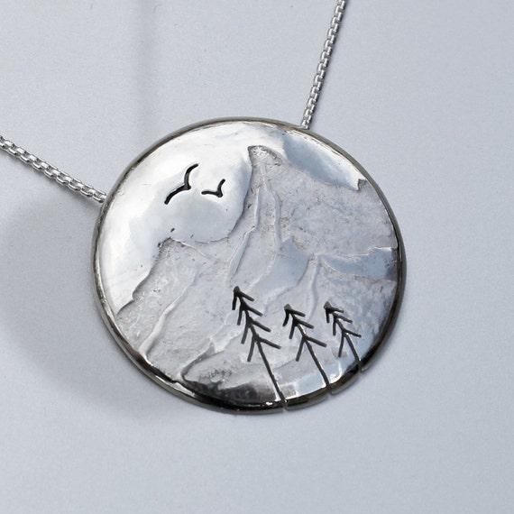 silver mountain pendant silver jewellery silver jewelry. Black Bedroom Furniture Sets. Home Design Ideas