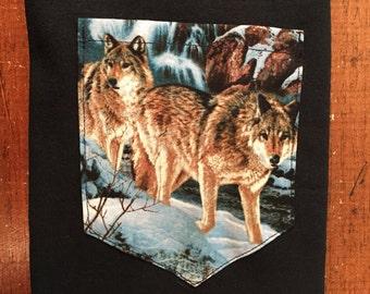 Snow Wolf Pocket Shirt S/M/L/XL/2x/3x
