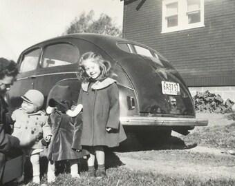 Original Antique Photograph Winter Day Trip