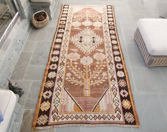 Vintage Large Caucasian Hand Knotted Wool Pile Tree of Life Rug - FREE GLOBAL SHIPPING