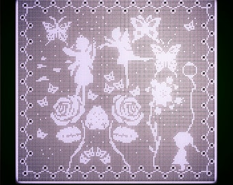 Fairy Garden Filet Crochet pattern pdf