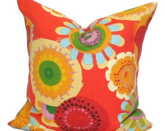FLORAL PILLOW. Pillow COVERS, Outdoor Pillow Cover, Floral Decorative Pillow, Throw Pillow, Floral Pillow, Outdoor Cushion Cover, Red Pillow