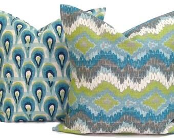 Home Decor.PILLOW COVER SET. Throw Pillows. Pillow. Blue Pillows. Popular Pillow. Pillows. Cushions. Home Decor, Wedding, Shower Gift. Green