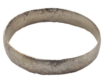 Authentic Ancient Viking Ring Wedding Band  C.900A.D. Size 10 1/2  (19.8mm)[PWR1053]