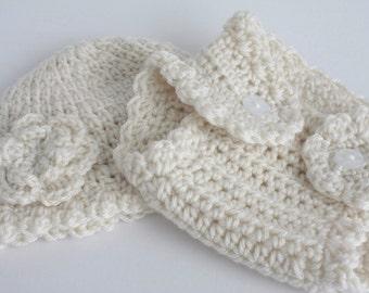 Handmade crochet baby girl layette / gift set.   Ideal /Christening / shower /new baby  gift.