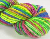 Meadow rainbow. Hand painted soft merino yarn  10ply Worsted  100 grams 3.5 ounces