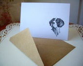 pointer card, english pointer stationery, dog stationery, english pointer cards, hound dog cards, bird dog cards, 10 cards