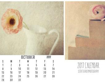 2017  calendar, Art calendar, Year Calendar - flower, fine art photography, wall desk calender, planner, stilllife, wall art, home decor