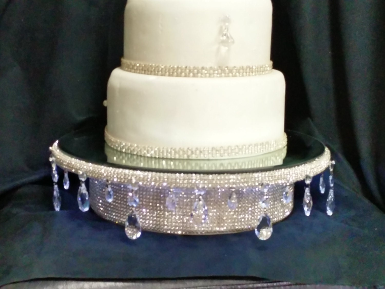 Real crystal rhinestone Wedding cake stand Teardrop design