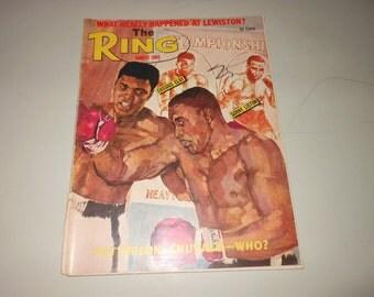 1965 Cassius Clay boxing magazine - Muhammad Ali - original vintage The Ring