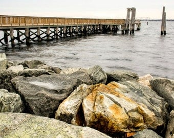 Fine art photograph of the Pier at Colt State Park, Bristol, Rhode Island