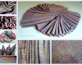 Handwoven Baby Wrap, Bourette Silk / Cotton, Size 4, ( 69 X 370 cm), Unique piece