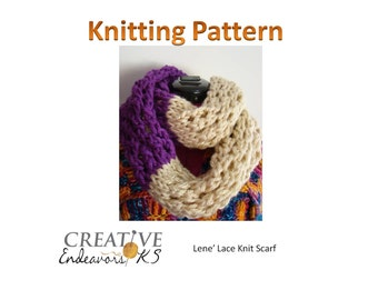 Instant Download Knit Scarf Pattern, Circle Scarf Pattern, Knitted Scarf Pattern, Infinity Scarf Pattern,Knitting Scarf Pattern,Cowl Pattern