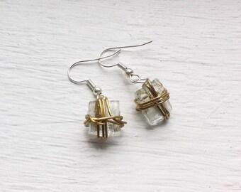 URBAN HOPE Earrings - Arise Creations - Repurposed Broken Glass Pendants - 1 Peter 5:10 - Delicate Earrings - Silver - Gold - Gift for her