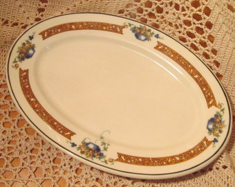 Vintage Syracuse China Restaurant Ware Platter, Dolores Platter, 1948