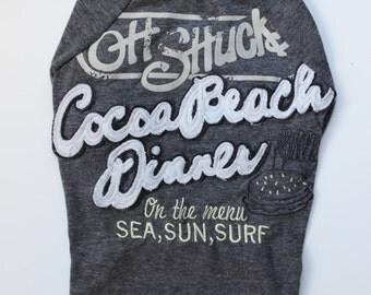 Upcycled Dog T-Shirt - Cocoa Beach