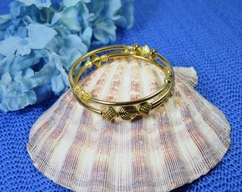 Gold Plated Memory Wire Bangle Bracelet