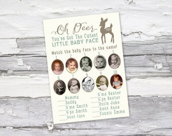 Little Baby Face custom baby shower matching game