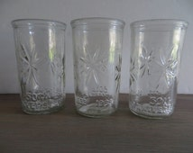 Vintage Ball jelly glasses 50th anniversary star pattern