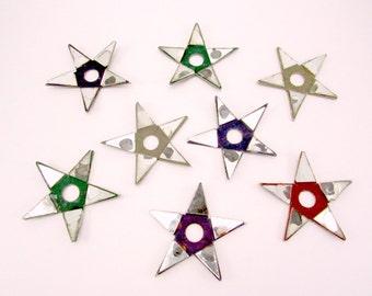 1940s Christmas Light Reflectors Mirrored Cardboard Stars