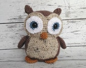 Christmas In July Sale Hooty the Owl, Crochet Owl Stuffed Animal, Owl Amigurumi, Plush Animal, Made to Order