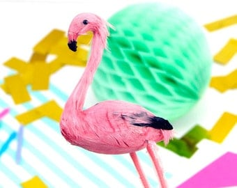 Miniature Flamingo Decoration