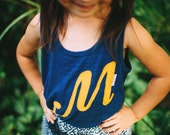 Swanky Shank Little Girl's Tank; Personalized with Fancy Initial