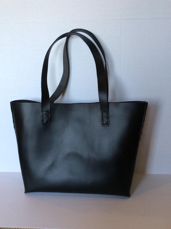 Women Tote Bag/Black Leather Tote Bag/Ladies Tote Bag/Large Handbag