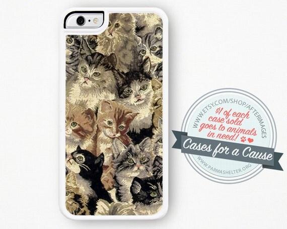 Cat iPhone 6 Case - Cat iPhone 5 Case iPhone 6 Plus Cute iPhone 6S Case 4S Kawaii iPhone 4 Case Kitten iPhone 5S Case Hard Plastic Silicone