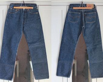 Levis 517 Jeans Men Women Levis Size W29 L29 High Waist Button Front Blue Jeans Unisex Vintage