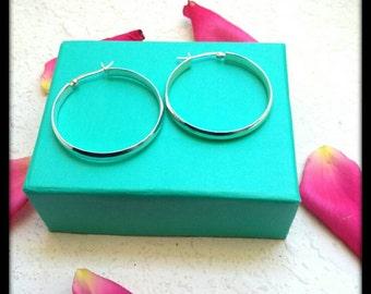 Vintage .925 Sterling silver hoop earrings, simple minimalist style, eco-friendly, gift idea bohemian chic, gypsy jewelry, earth day, autumn