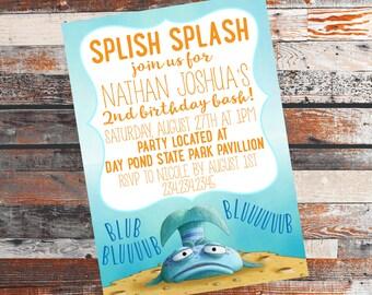 Pout Pout Fish Birthday Party. Pout Pout Fish Invitation. Pout Pout Fish Invite. Fish Birthday Invite. Fish Birthday Invitation. Fish Party.