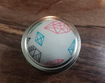 Gems pincushion jar