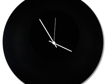 Blackout Circle Clock | Contemporary Metal Wall Clocks, Monochrome Modern Décor
