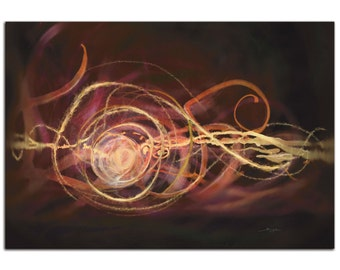 Warm Blend | Urban Abstract Art on Metal