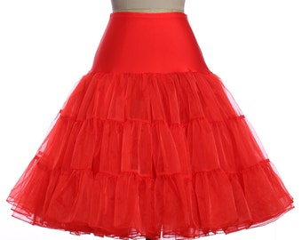 50s Swing Vintage Petticoat  white, royal blue, red, pink  Regular size