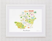 Map of Hampshire Art Print