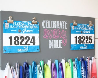 Race Bib and Medal Holder - Celebrate Every Mile - Extra Large Size