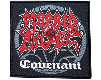 """Morbid Angel """"Covenant"""" Album Death Metal Music Band Woven Sew On Applique Patch"""