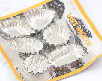 5 shaped Tartlet Tins, Tart Pans, Tart Molds