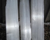 Sparkley Selenite - 3 large crystal Logs - ALL INCLUDED - free shipping usa